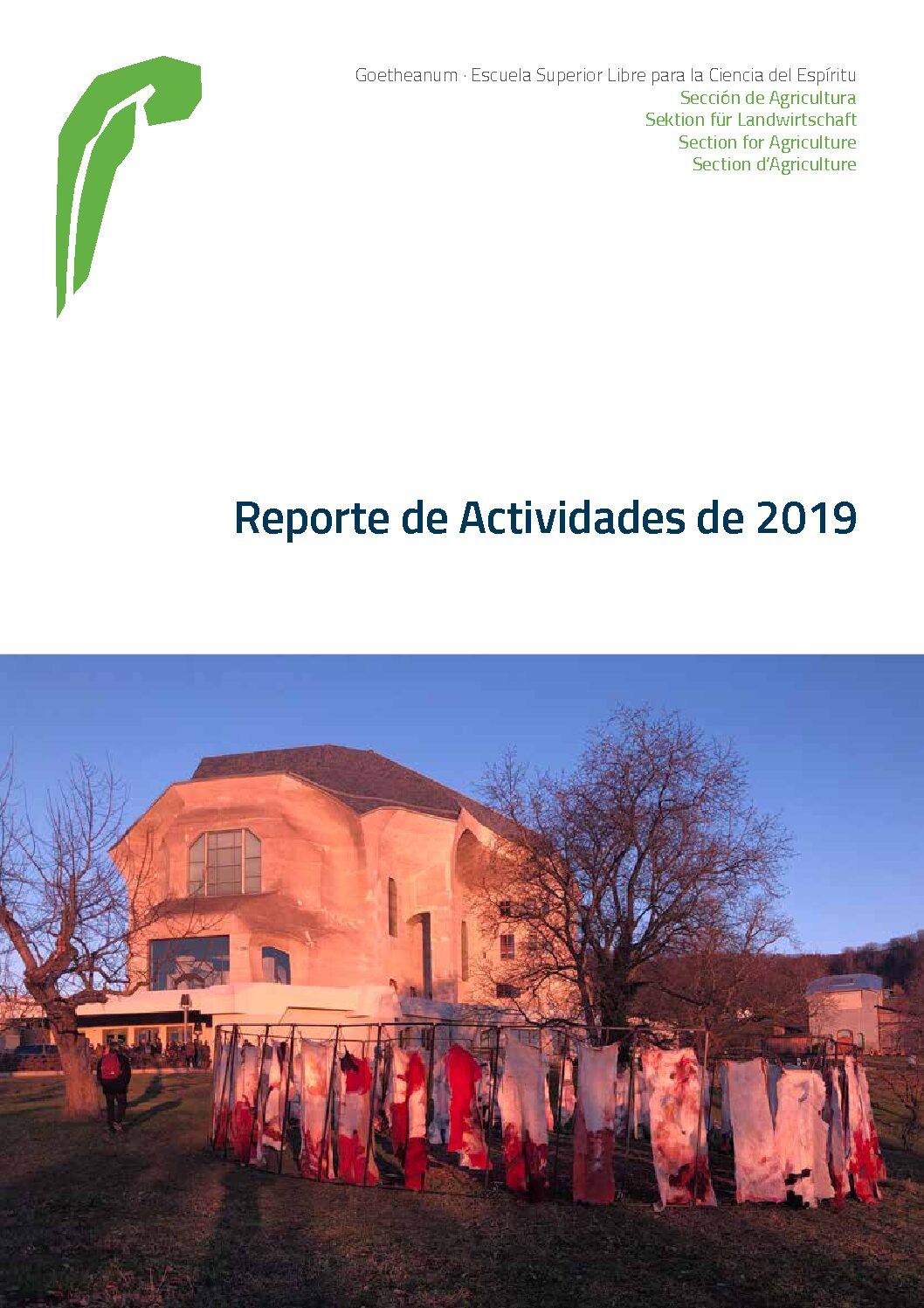 Reporte de actividades 2019