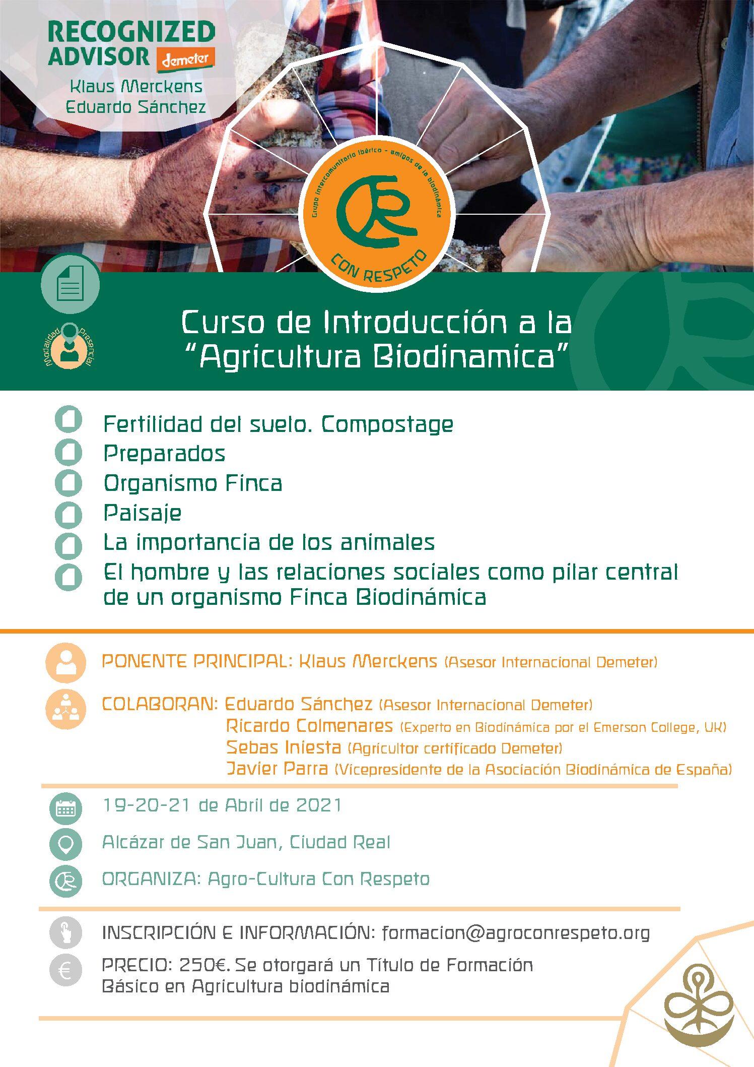 Curso Introducción agricultura Biodinámica